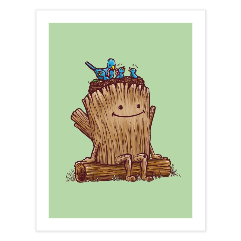 Good Day Log's Bird Nest Home Fine Art Print by nickv47