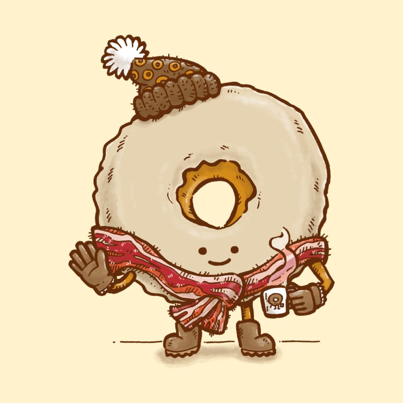 Bacon Scarf Donut None  by nickv47