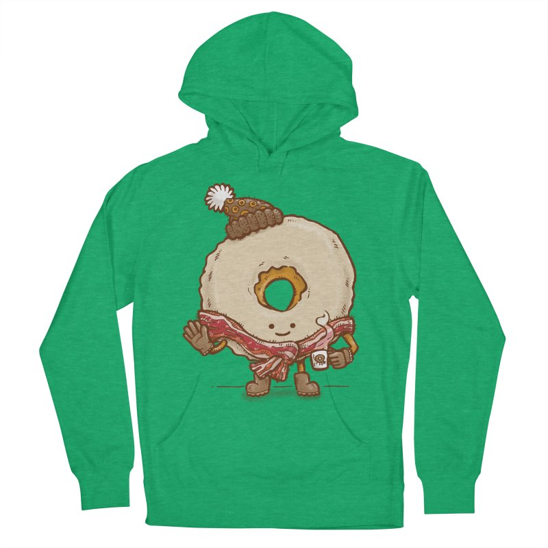 Bacon Scarf Donut Men's Pullover Hoody by nickv47