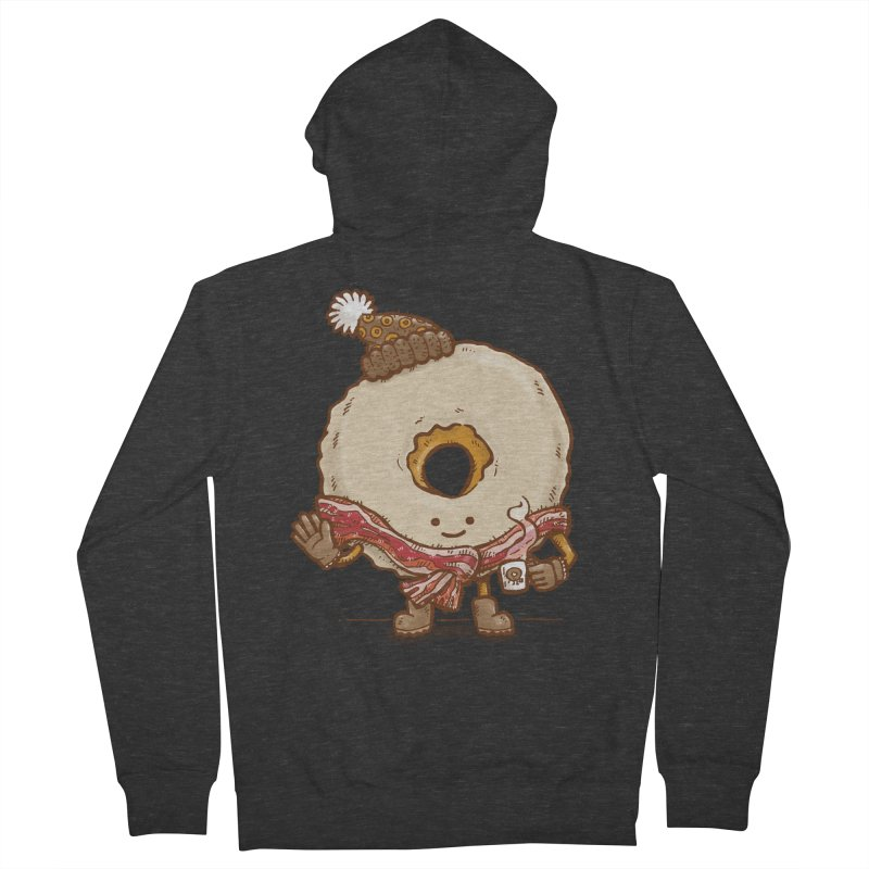 Bacon Scarf Donut Women's Zip-Up Hoody by nickv47