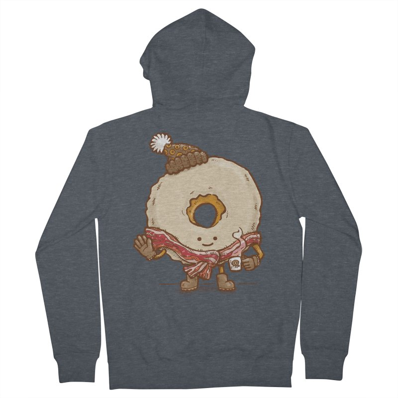 Bacon Scarf Donut Men's Zip-Up Hoody by nickv47