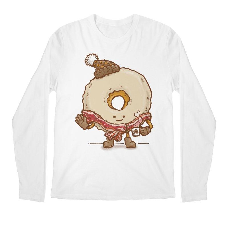 Bacon Scarf Donut Men's Longsleeve T-Shirt by nickv47
