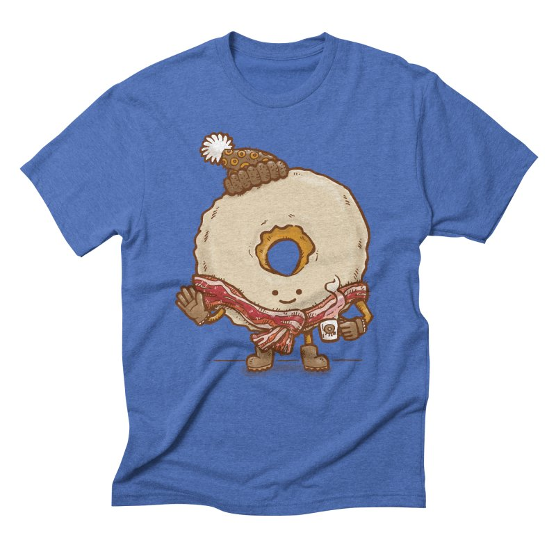 Bacon Scarf Donut Men's Triblend T-shirt by nickv47