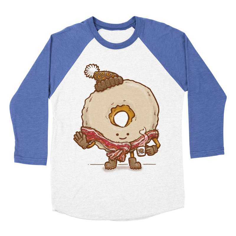 Bacon Scarf Donut Women's Baseball Triblend T-Shirt by nickv47