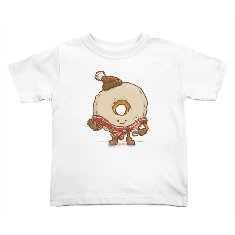 Bacon Scarf Donut Kids Toddler T-Shirt by nickv47