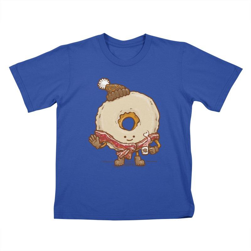Bacon Scarf Donut Kids T-shirt by nickv47
