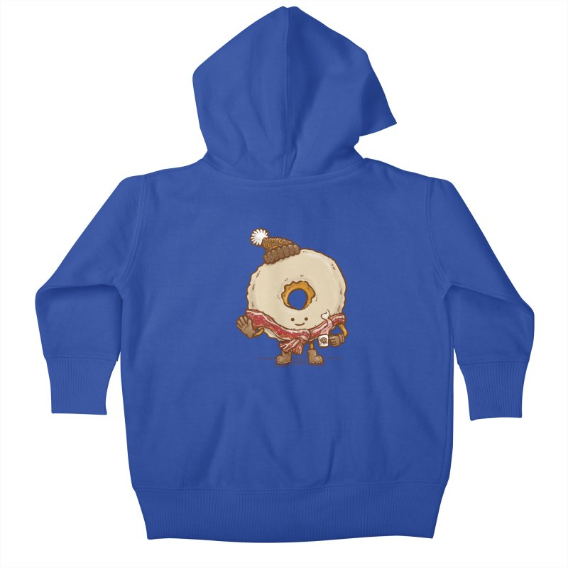 Bacon Scarf Donut Kids Baby Zip-Up Hoody by nickv47