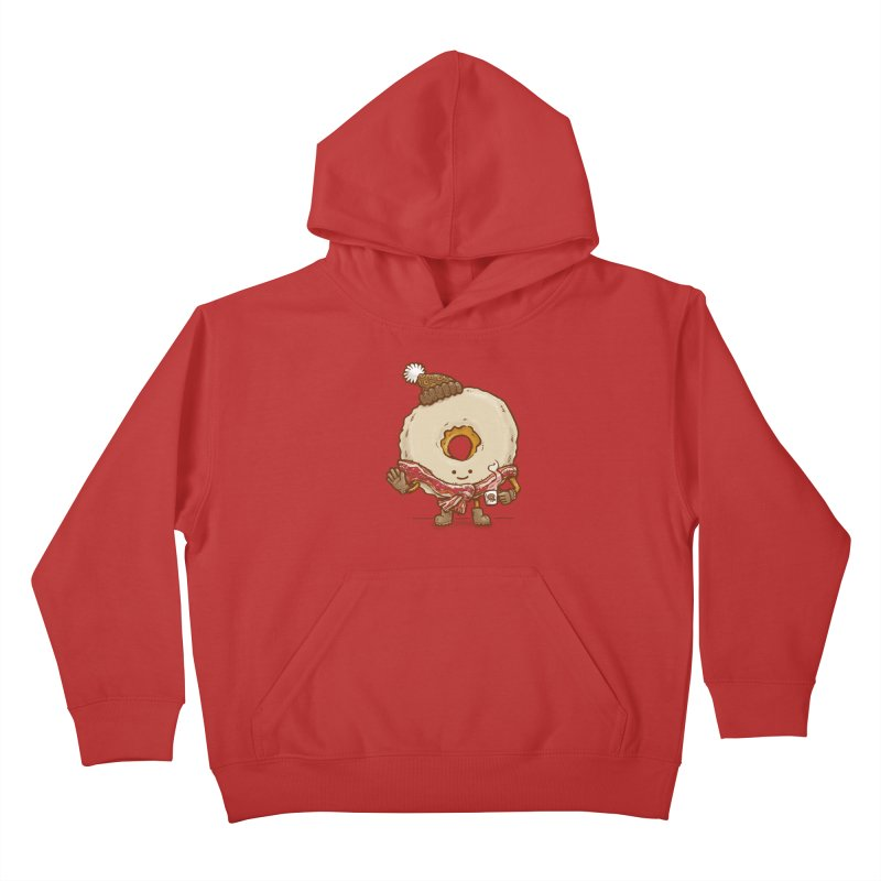 Bacon Scarf Donut Kids Pullover Hoody by nickv47