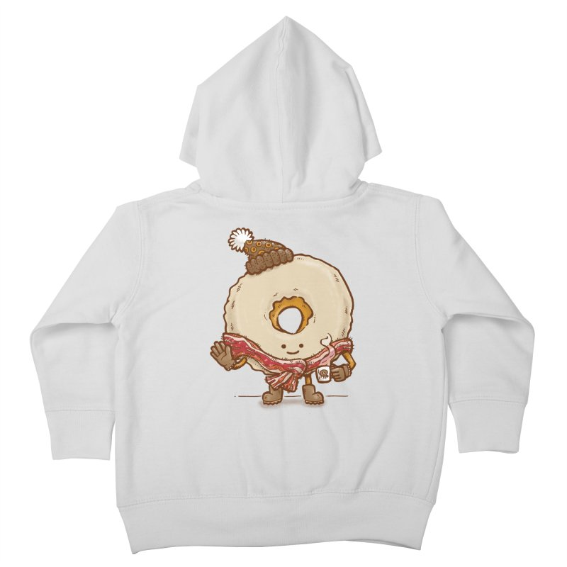 Bacon Scarf Donut Kids Toddler Zip-Up Hoody by nickv47