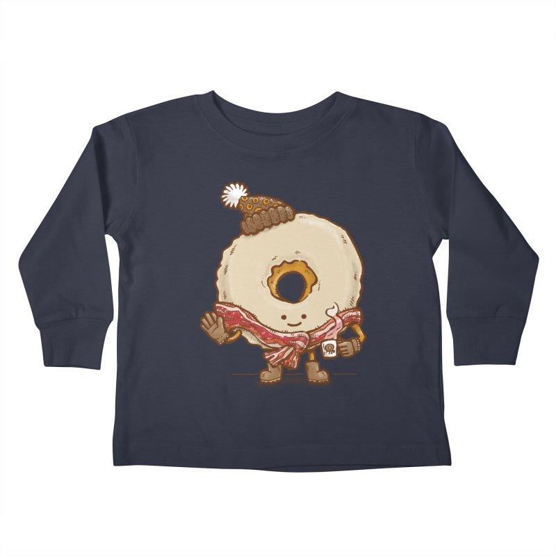 Bacon Scarf Donut Kids Toddler Longsleeve T-Shirt by nickv47