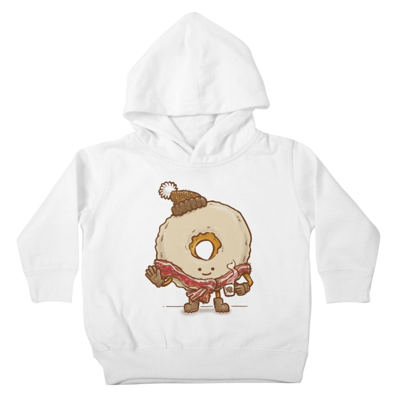 Bacon Scarf Donut Kids Toddler Pullover Hoody by nickv47