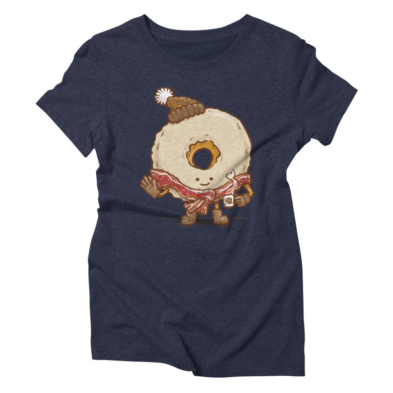 Bacon Scarf Donut Women's Triblend T-shirt by nickv47