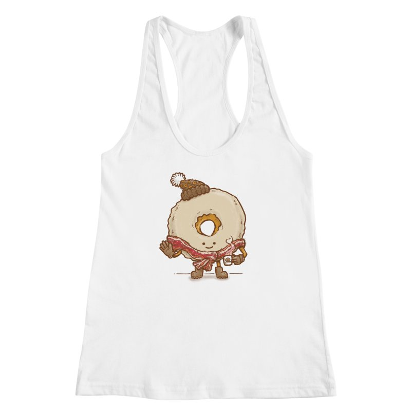 Bacon Scarf Donut Women's Racerback Tank by nickv47