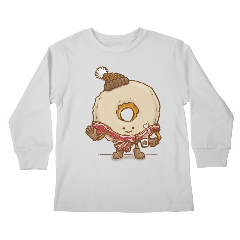 Bacon Scarf Donut Kids Longsleeve T-Shirt by nickv47