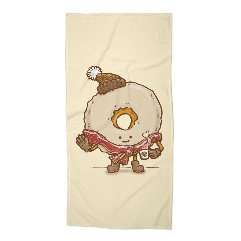 Bacon Scarf Donut Accessories Beach Towel by nickv47