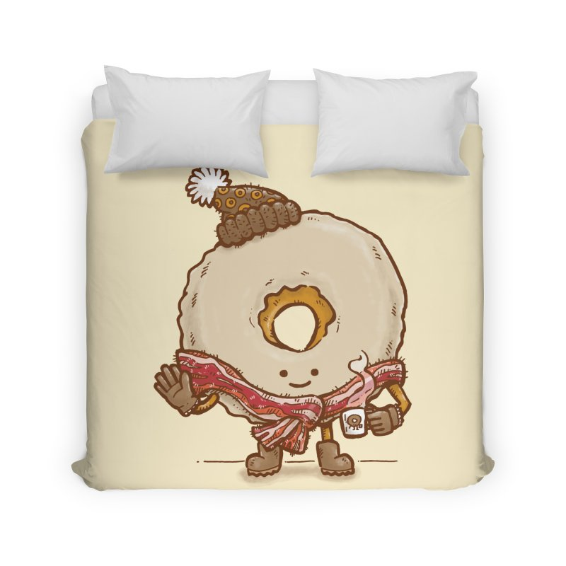 Bacon Scarf Donut Home Duvet by nickv47