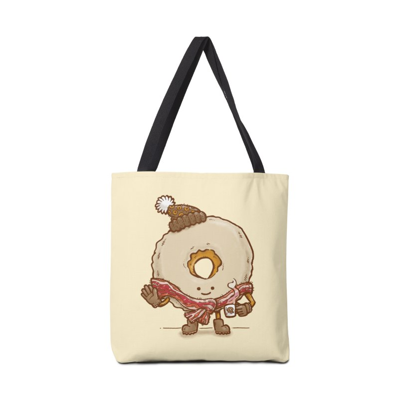 Bacon Scarf Donut Accessories Bag by nickv47
