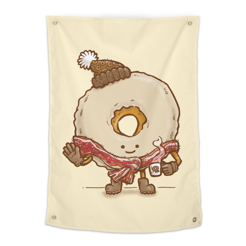 Bacon Scarf Donut Home Tapestry by nickv47