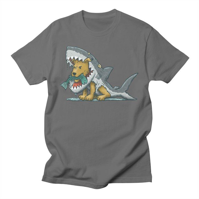 Shark Suit Dog Men's T-Shirt by nickv47