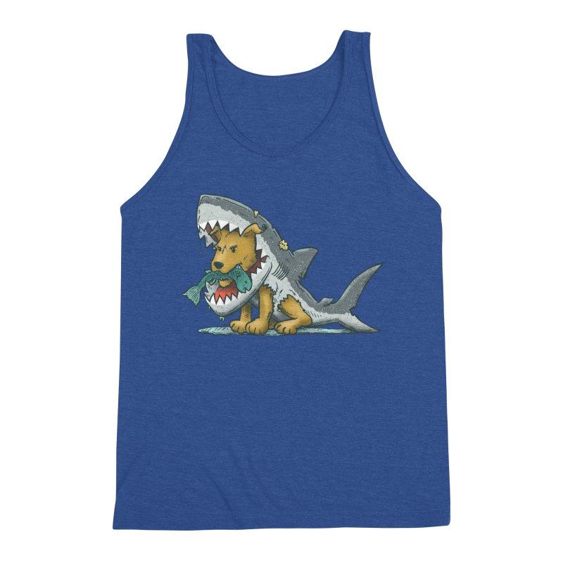 Shark Suit Dog Men's Tank by nickv47