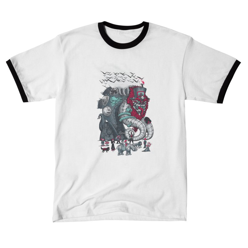 Dark Circusbot Men's T-Shirt by nickv47