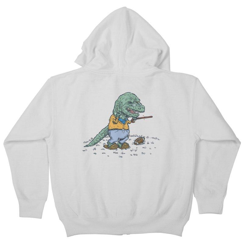Geriatricasaur Kids Zip-Up Hoody by nickv47