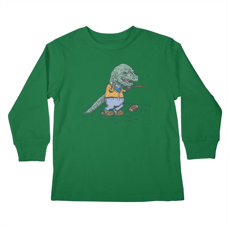 Geriatricasaur Kids Longsleeve T-Shirt by nickv47