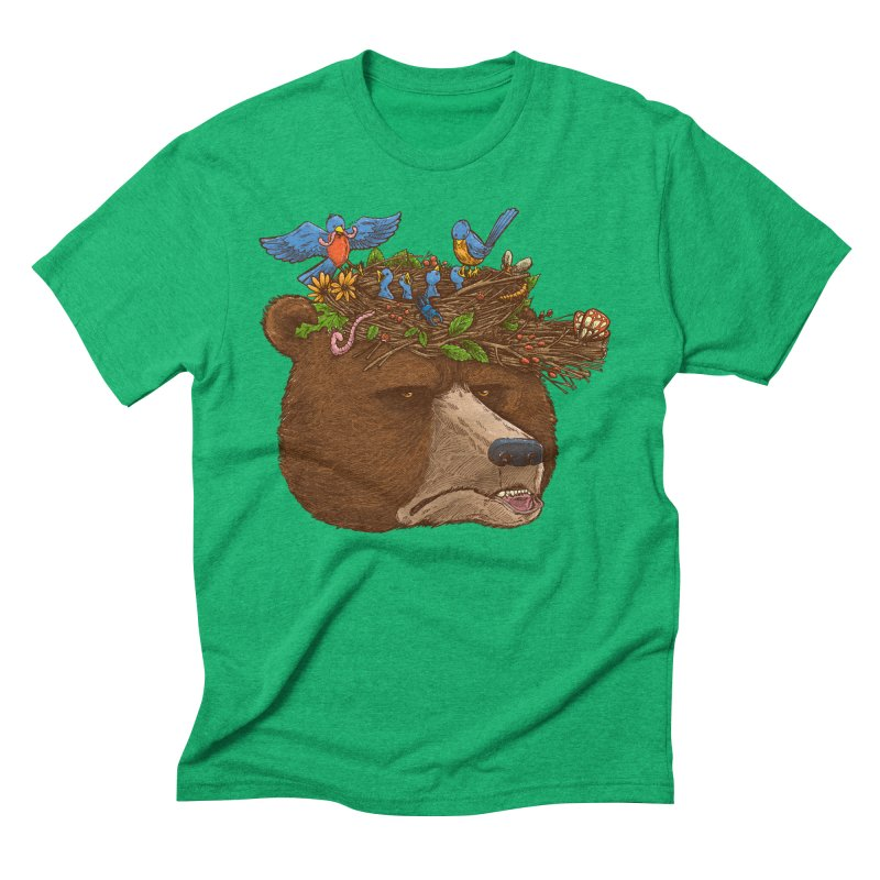 Mr Bear's Nature Hat 2017 Men's Triblend T-shirt by nickv47