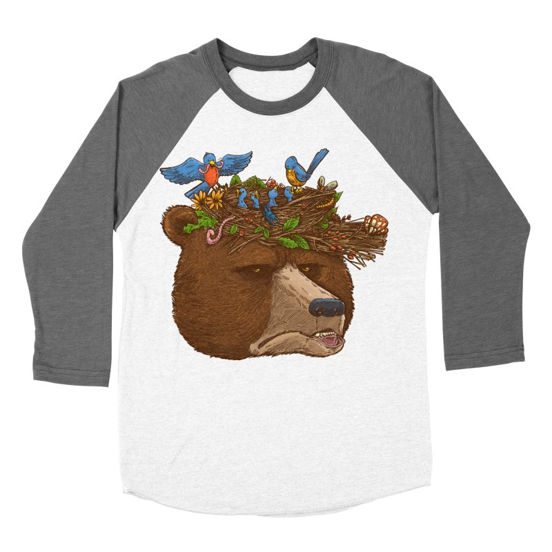 Mr Bear's Nature Hat 2017 Women's Baseball Triblend T-Shirt by nickv47