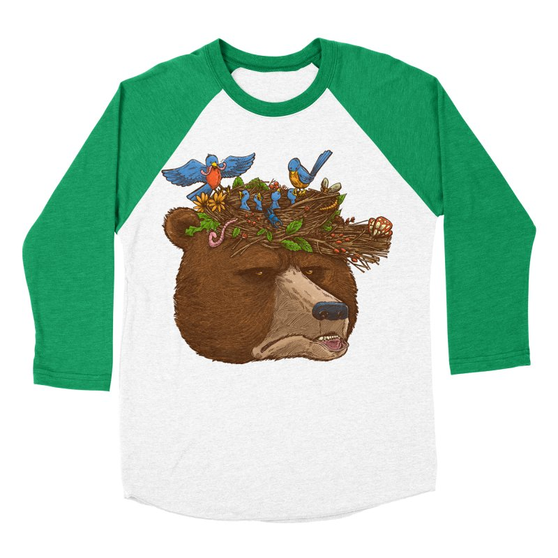 Mr Bear's Nature Hat 2017 Men's Baseball Triblend T-Shirt by nickv47