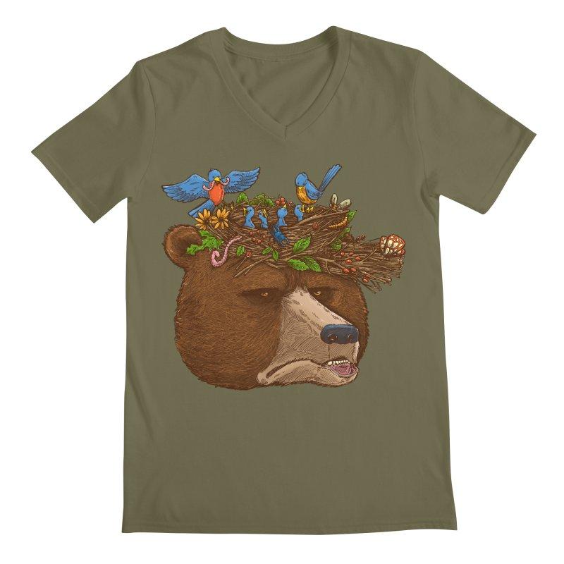 Mr Bear's Nature Hat 2017 Men's V-Neck by nickv47