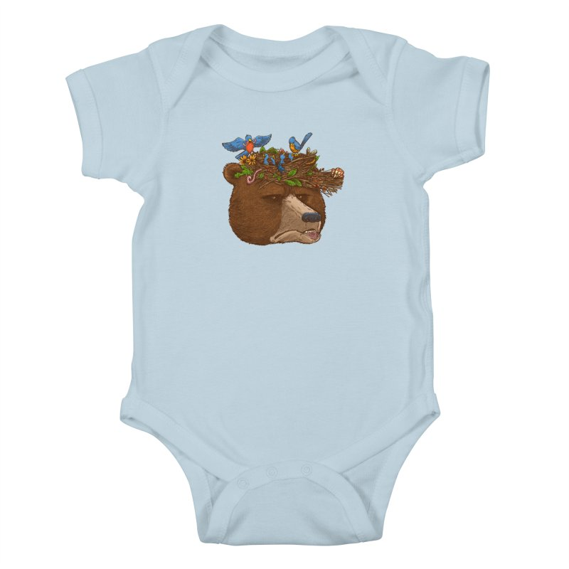 Mr Bear's Nature Hat 2017 Kids Baby Bodysuit by nickv47