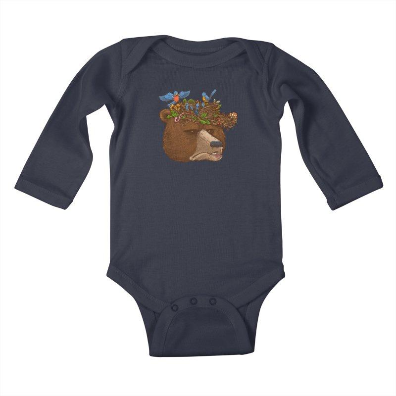 Mr Bear's Nature Hat 2017 Kids Baby Longsleeve Bodysuit by nickv47
