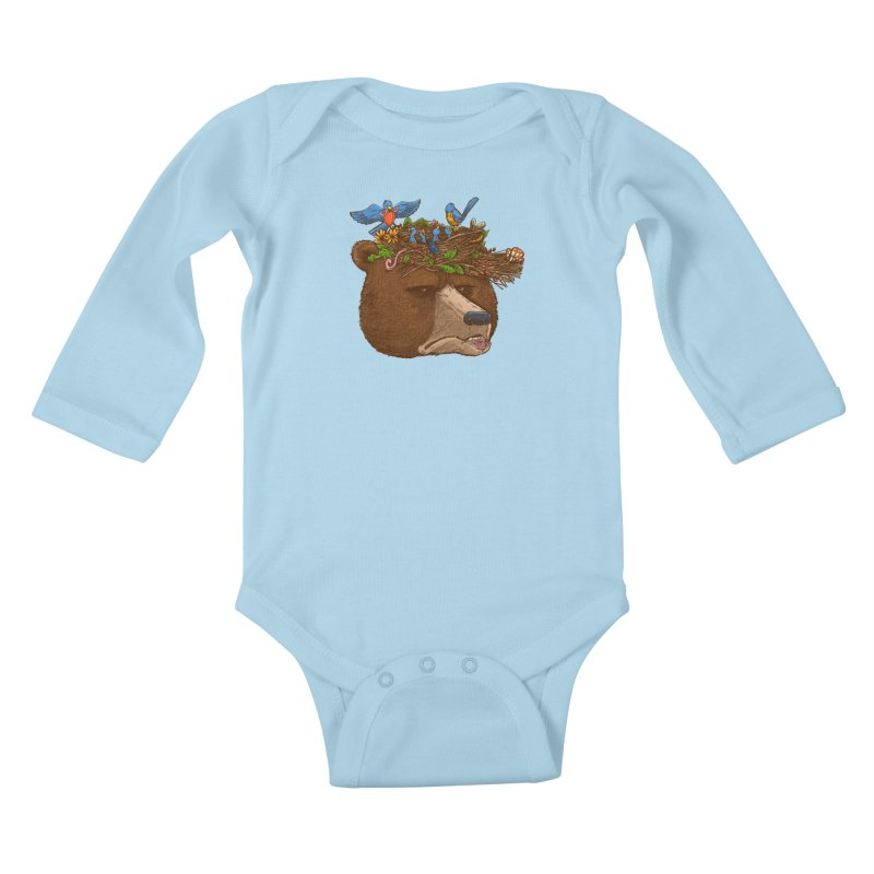 Mr Bear's Nature Hat 2017 Kids Baby Longsleeve Bodysuit by nickv47