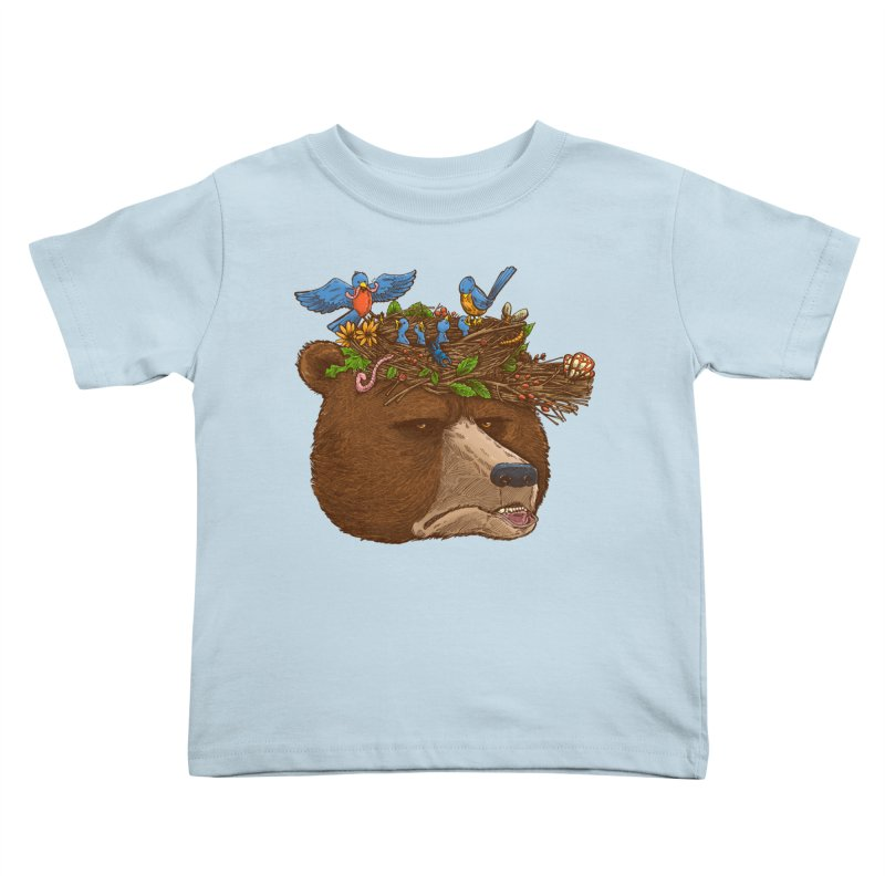 Mr Bear's Nature Hat 2017 Kids Toddler T-Shirt by nickv47