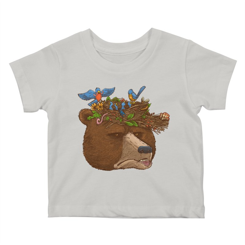 Mr Bear's Nature Hat 2017 Kids Baby T-Shirt by nickv47