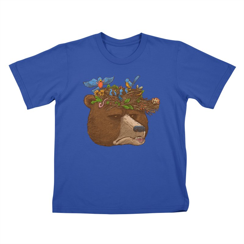 Mr Bear's Nature Hat 2017 Kids T-shirt by nickv47