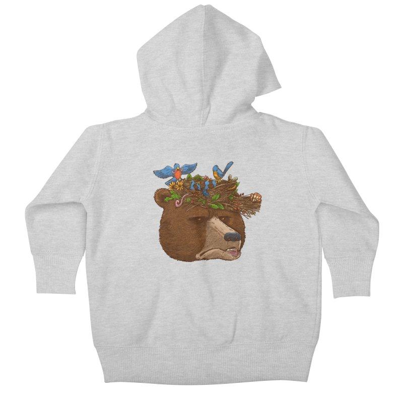 Mr Bear's Nature Hat 2017 Kids Baby Zip-Up Hoody by nickv47