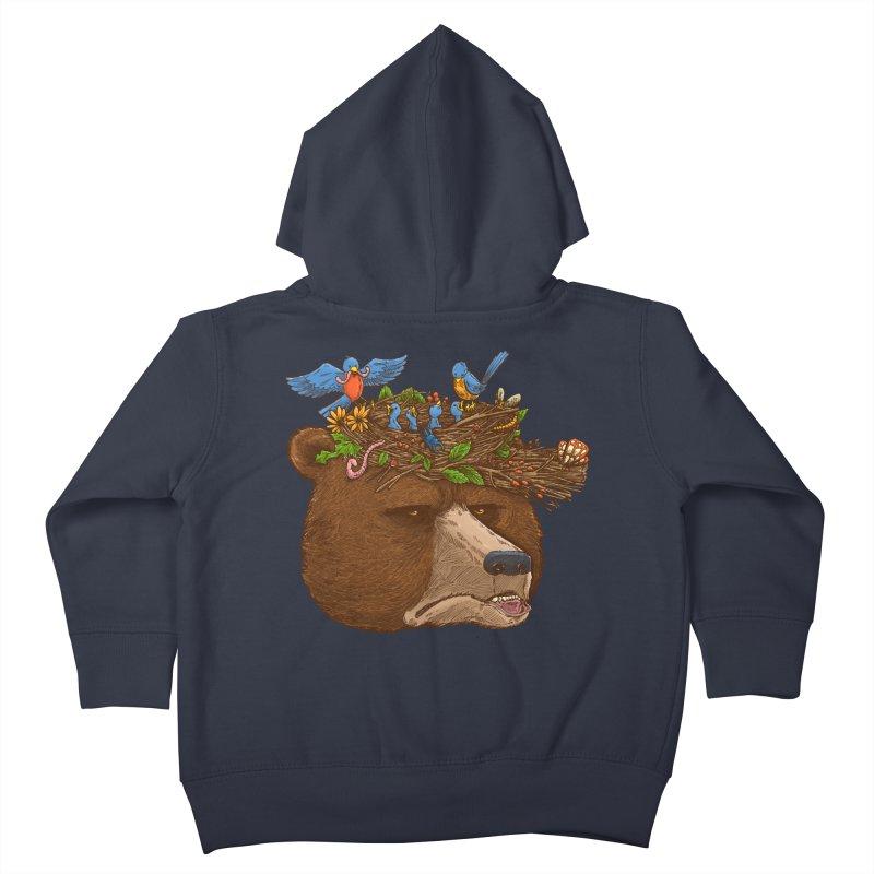 Mr Bear's Nature Hat 2017 Kids Toddler Zip-Up Hoody by nickv47