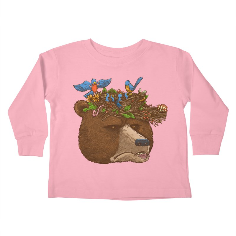 Mr Bear's Nature Hat 2017 Kids Toddler Longsleeve T-Shirt by nickv47