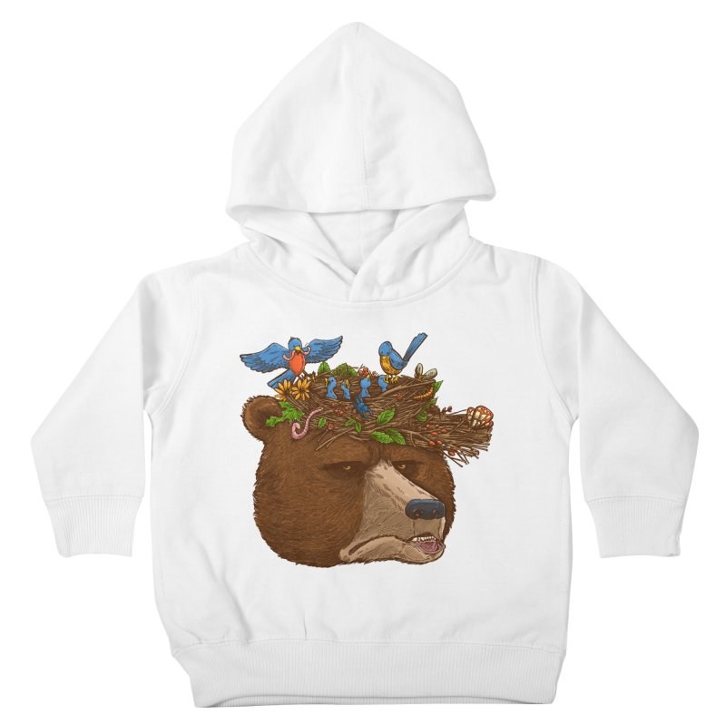 Mr Bear's Nature Hat 2017 Kids Toddler Pullover Hoody by nickv47