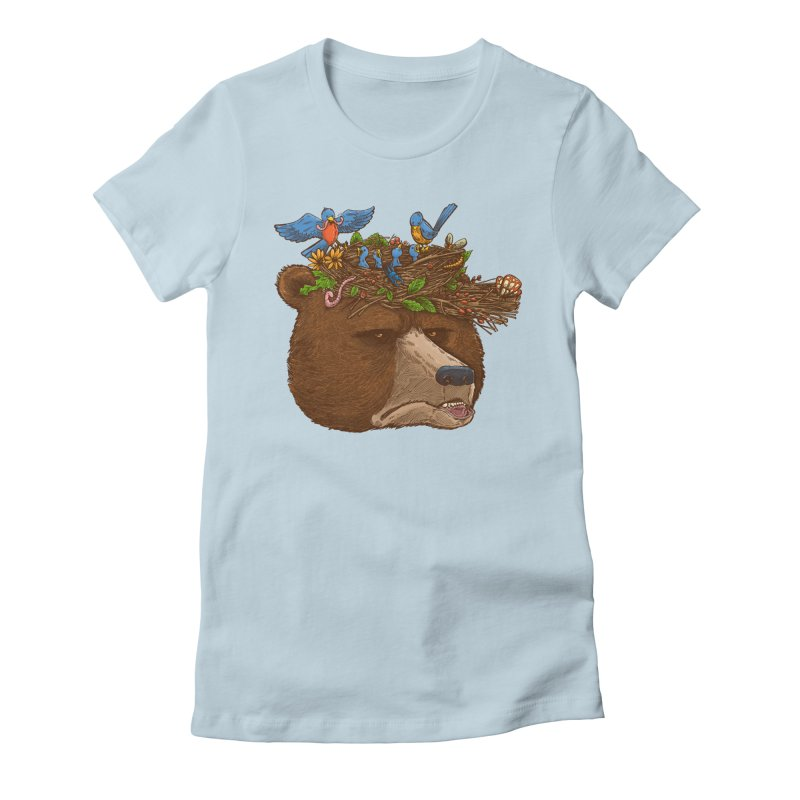 Mr Bear's Nature Hat 2017 Women's Fitted T-Shirt by nickv47