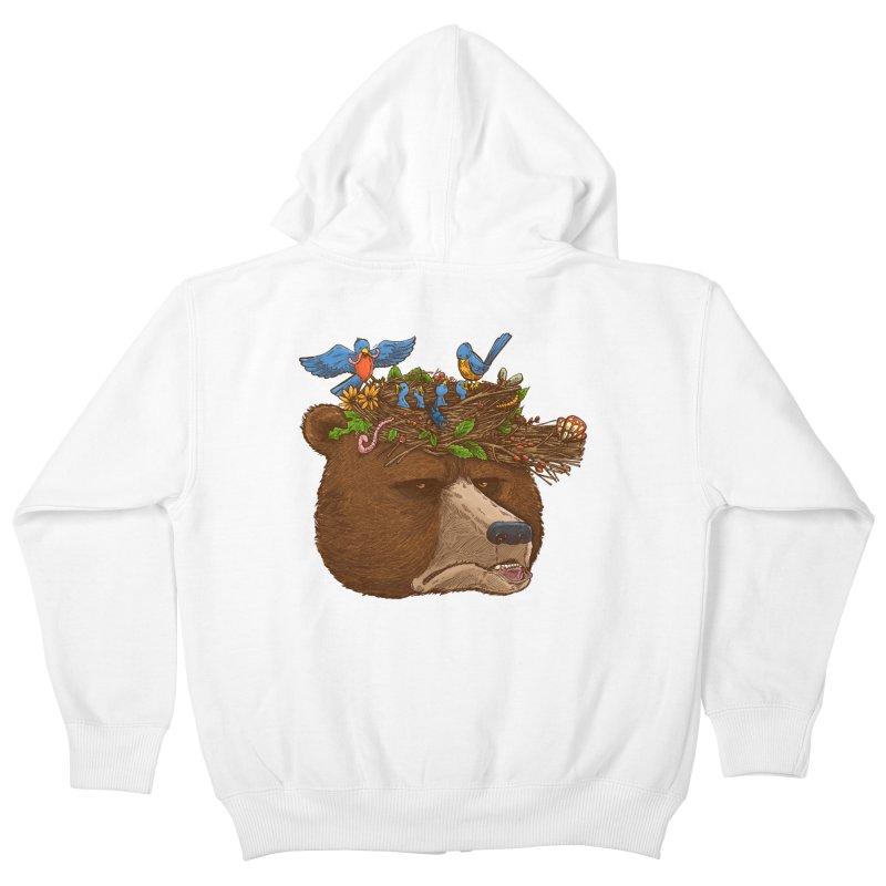 Mr Bear's Nature Hat 2017 Kids Zip-Up Hoody by nickv47