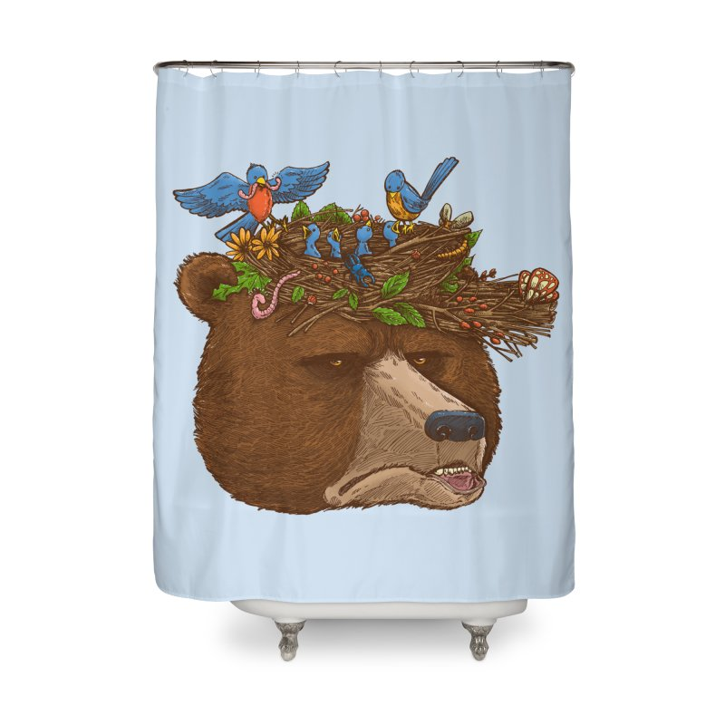 Mr Bear's Nature Hat 2017 Home Shower Curtain by nickv47