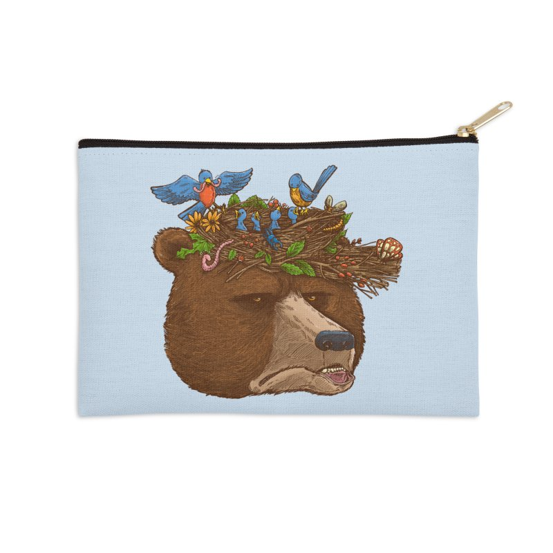 Mr Bear's Nature Hat 2017 Accessories Zip Pouch by nickv47