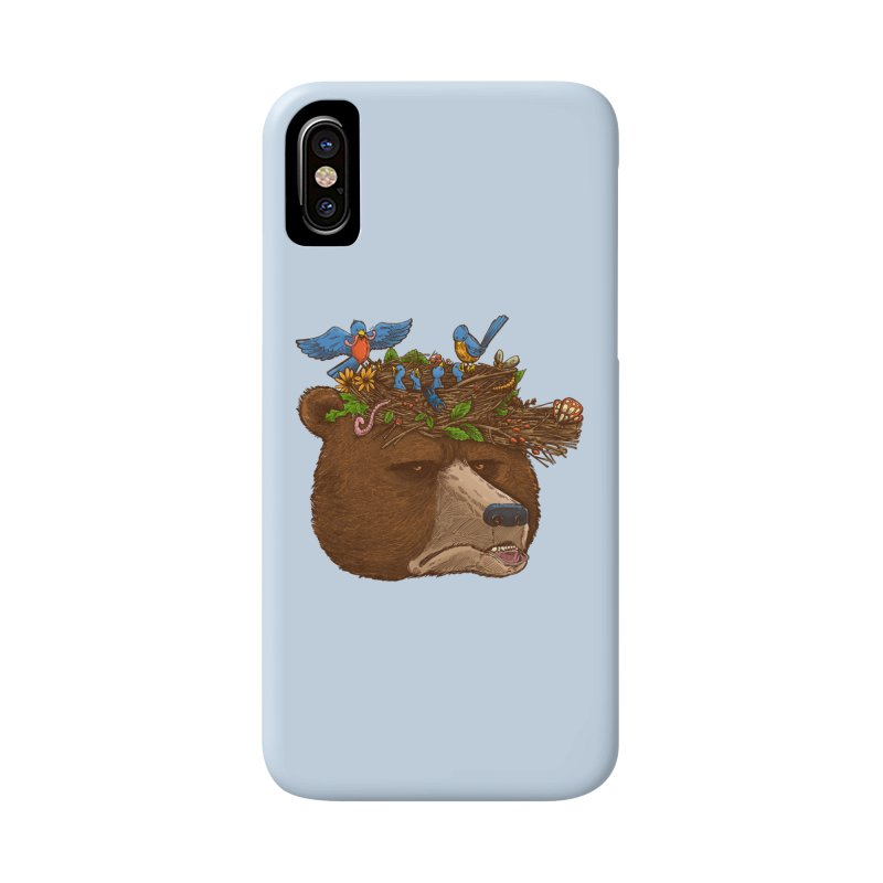 Mr Bear's Nature Hat 2017 Accessories Phone Case by nickv47
