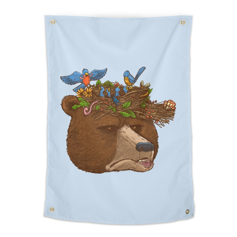 Mr Bear's Nature Hat 2017 Home Tapestry by nickv47