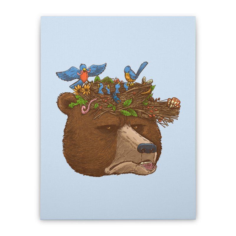 Mr Bear's Nature Hat 2017 Home Stretched Canvas by nickv47