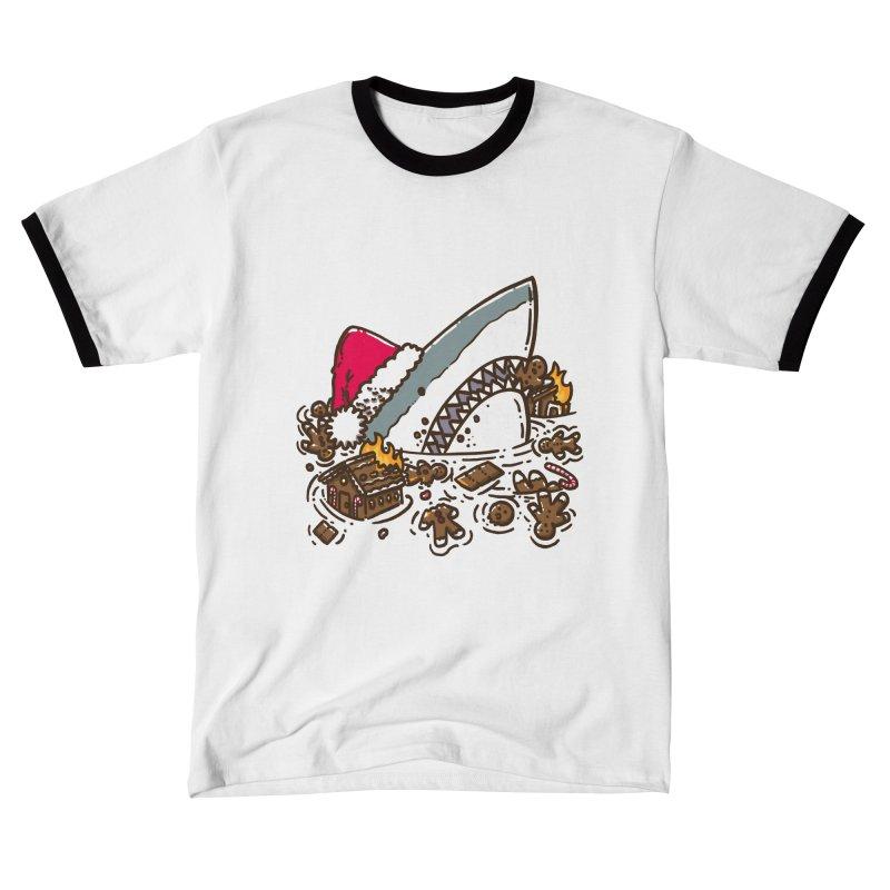 Gingerbread Destruction Shark Men's T-Shirt by nickv47