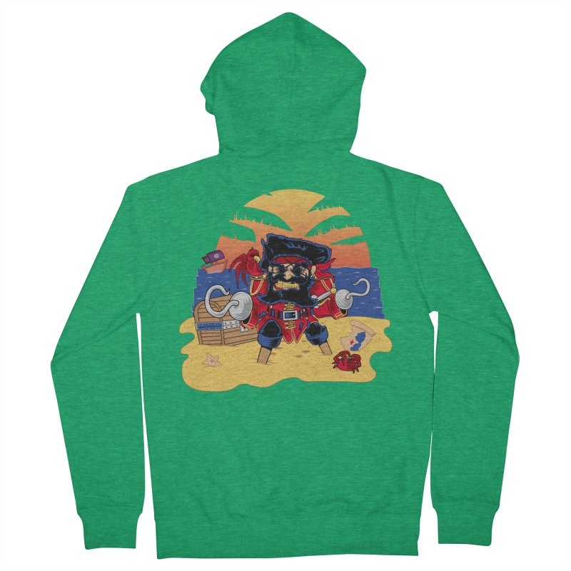 Lucky the Pirate Men's Zip-Up Hoody by nickv47